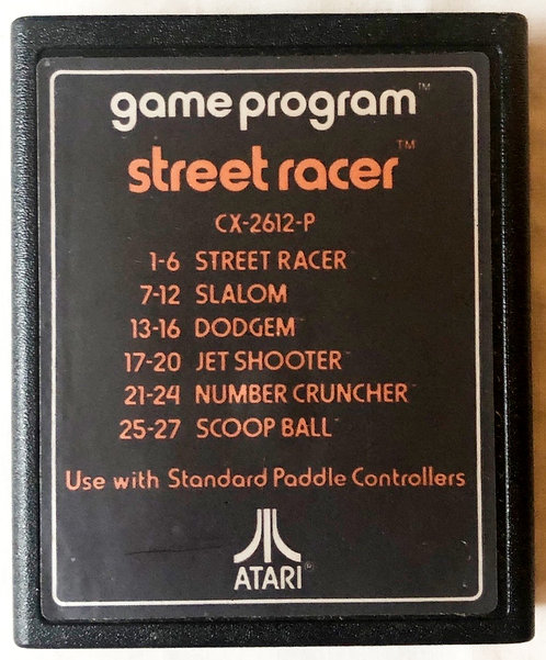 Street Racer Atari 2600 U.K. (PAL)