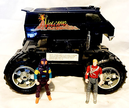 M.A.S.K. Volcano And Figures Kenner 1986