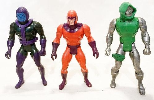 Secret Wars Figure Set Dr. Doom Magneto Kang Mattel 1984