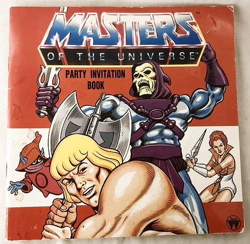 He-Man And The Masters Of The Universe Party Invitation Book  Germany  1986