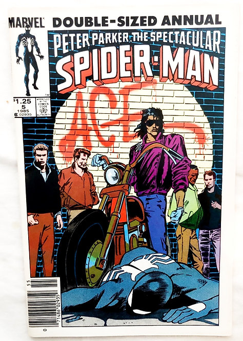 Marvel Double-Sized Annual Peter Parker The Spectacular Spider-Man #5 1985