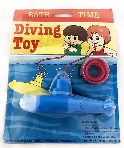 Vintage Bath Time Diving Toy Sub-Marine