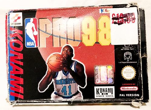 NBA Pro 98 Nintendo 64 U.K. (PAL)