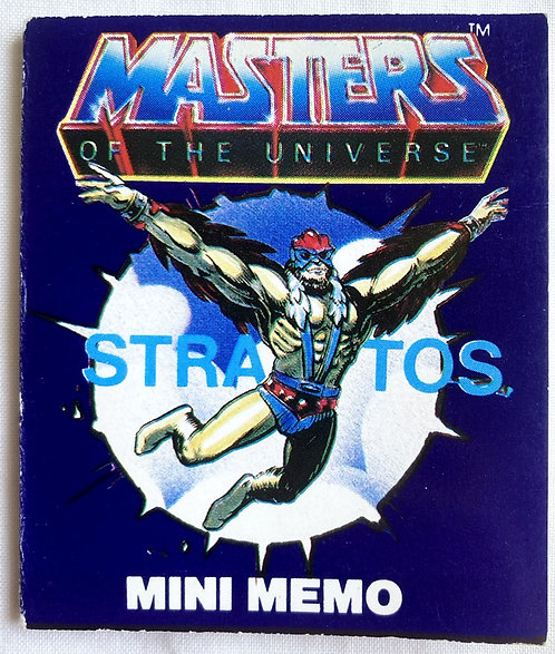 He-Man And The Masters Of The Universe Fan Club Stratos Mini Memo 7c
