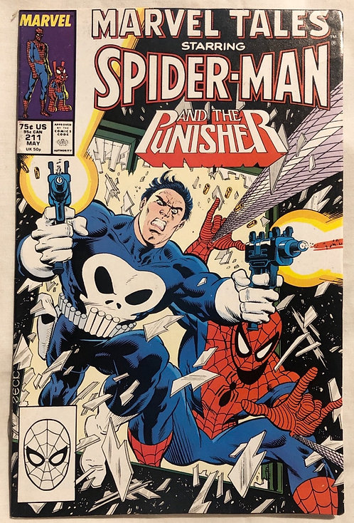 Marvel Tales Starring Spider-Man And Punisher No 211 May 1988