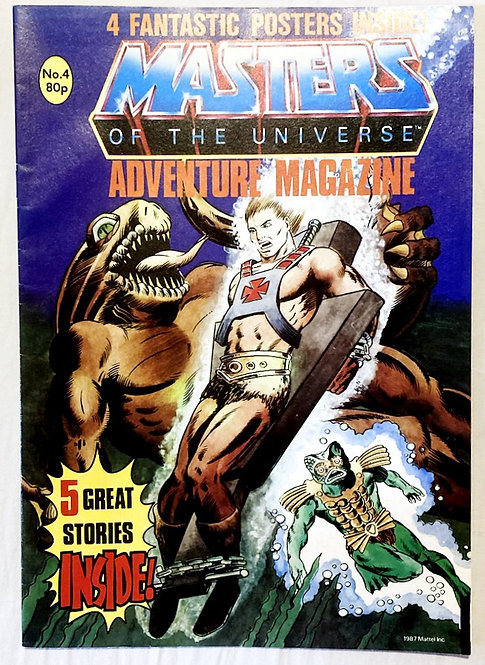 He-Man And The Masters Of The Universe Adventure Magazine No. 4  1987