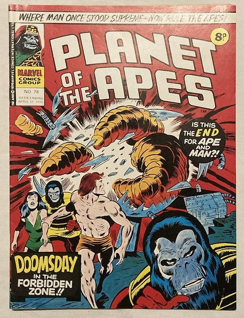 Marvel Comics Planet Of The Apes #78 April 1976