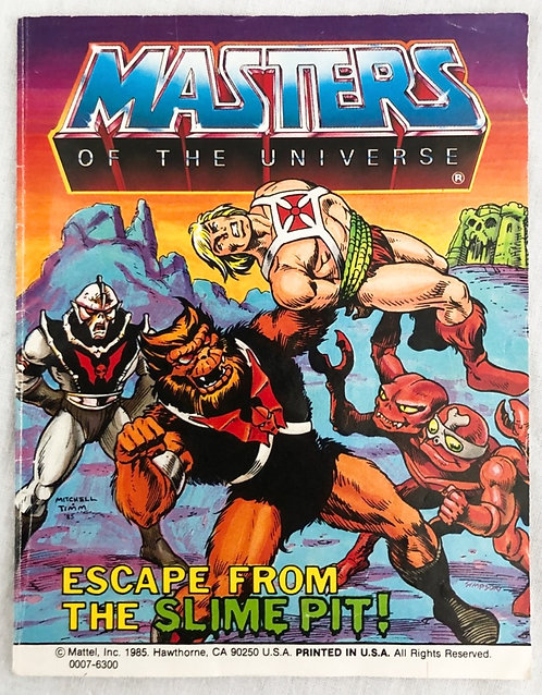 He-Man And The Masters Of The Universe Escape From The Slim Pit Mini Comic