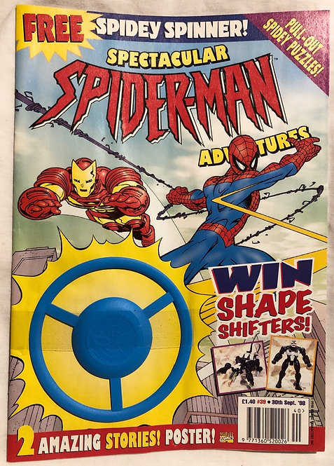Spectacular Spider-Man Adventures No 39 Free Spidey Spinner September 1998