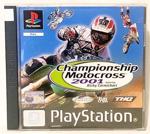 Championship Motocross 2001 PlayStation Game U.K. (PAL)