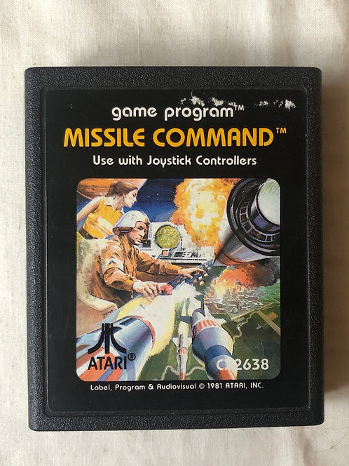 Missile Command Atari 2600 U.K. (PAL)