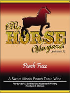 Big Horse Vineyards Wine Label_Peach Fuz