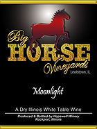 Big Horse Vineyards Wine Label_Moonlight