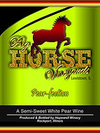 Big Horse Vineyards Wine Label_Pear_wble