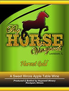 Big Horse Vineyards Wine Label_Harvest G
