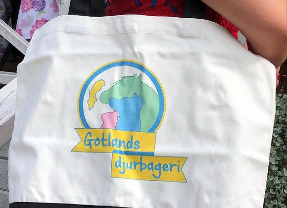 Gotlands djurbageri Tyg väska i vitt och svart-little bag
