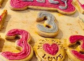 """""""Födelsedags Pälsbarnet"""", 9 hund godisar - 9 dog cookies"""
