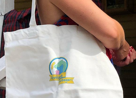 Gotlands djurbageri Tyg väska i vitt-little bag