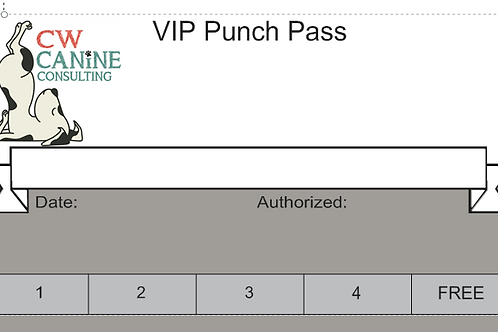 VIP (Very Important Pup) Five Punch Pass