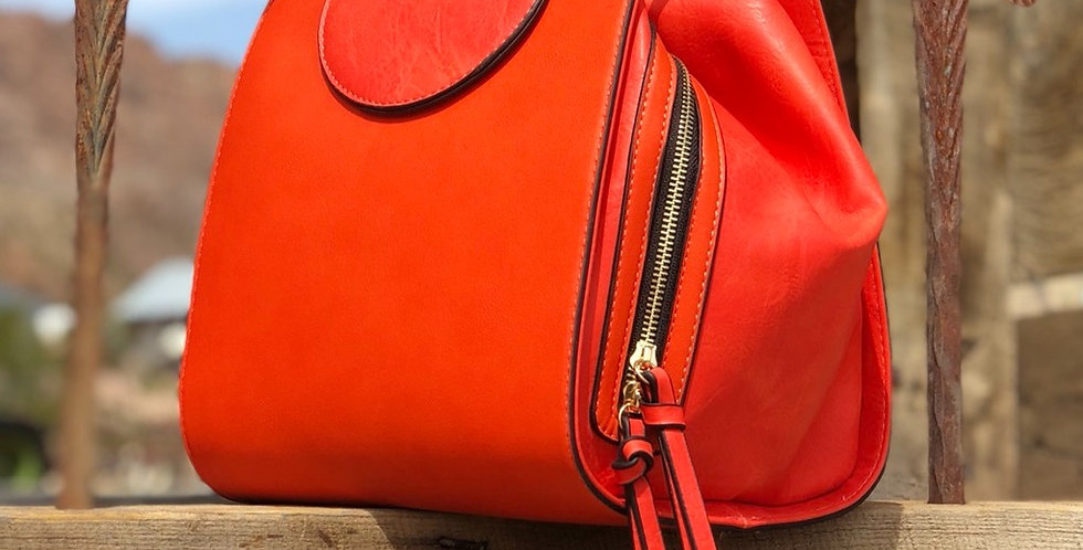 Kate Cube Handbag - Orange