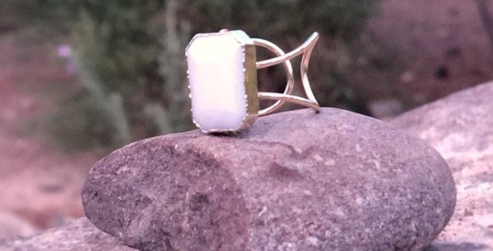 White Stone Ring