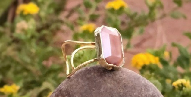 Burnt Blush Stone Ring