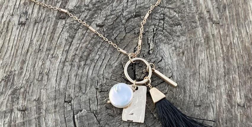 Tassel Necklace - Black