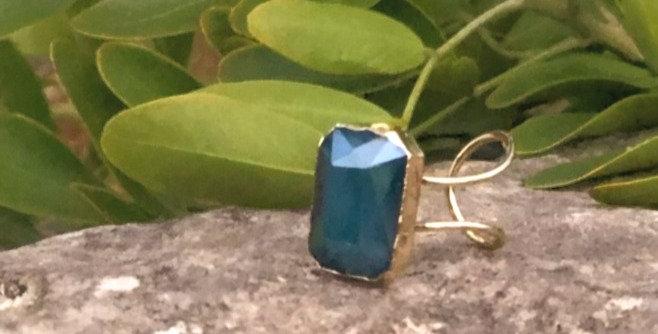 Deep Emerald Stone Ring
