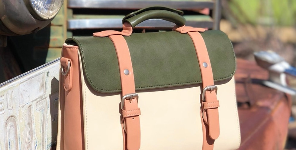 Alex Briefcase Bag - Olive