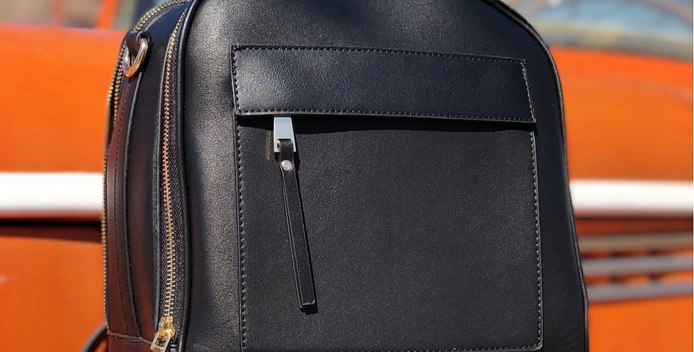 Morgan Tote Backpack - Black