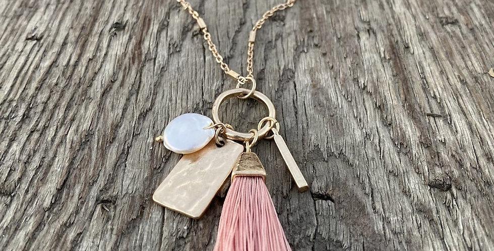 Tassel Necklace - Vintage Blush