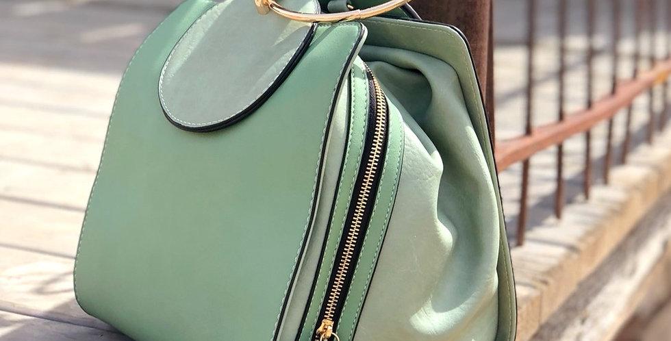 Kate Cube Handbag - Pistachio