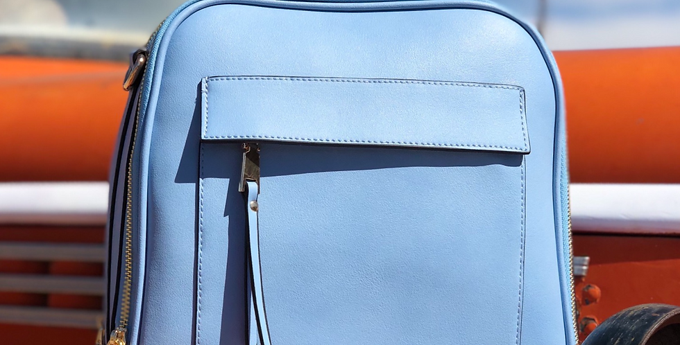 Morgan Tote Backpack - Blue
