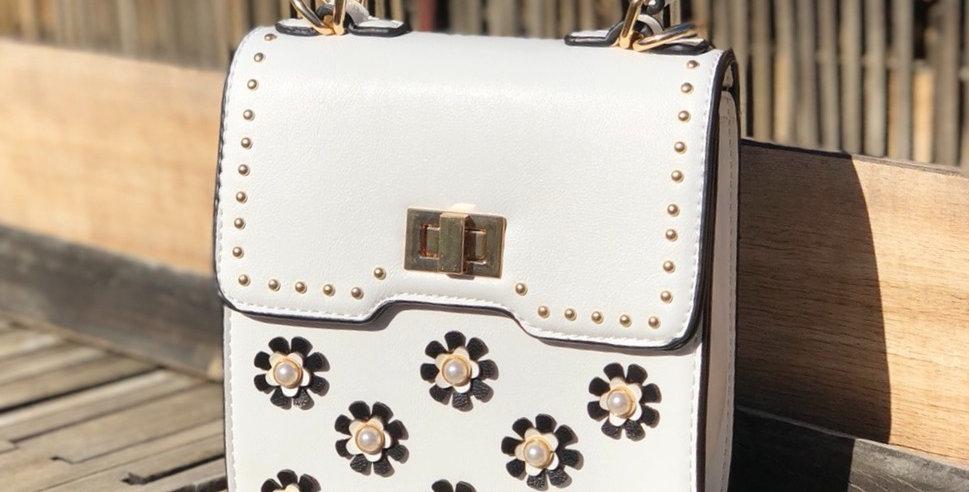 Daisy Mini Crossbody - White
