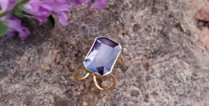 Rich Purple Stone Ring