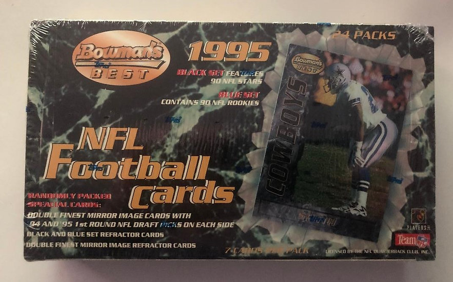 1995 Bowman's Best NFL Football Cards  Factory Sealed Box - 24 Packs
