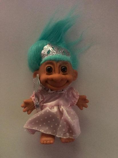 Pincess Troll - Aqua Hair