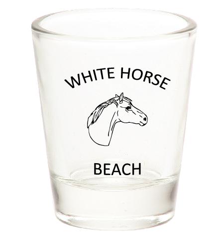 White Horse Beach Shot Glass