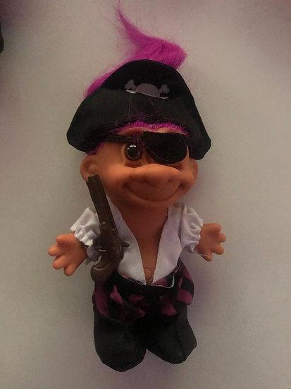 Pirate Troll - Purple Hair