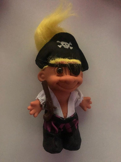 Pirate Troll - Yellow Hair