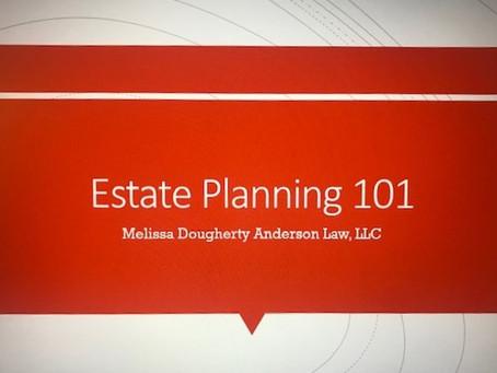 Webinar - Estate Planning 101