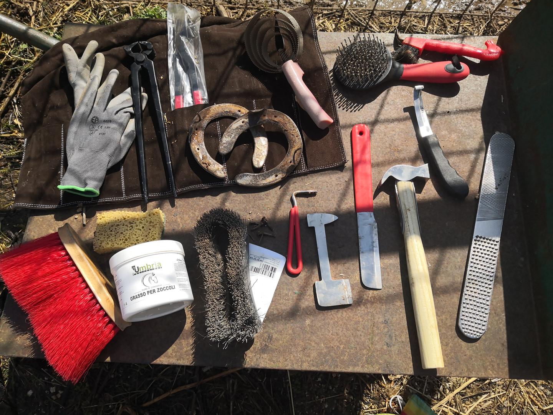 Gli strumenti del maniscalco