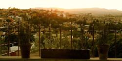 Roof top garden in San Miguel Mexico
