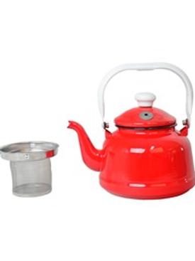 Nurgaz Emaye Çaydanlık Kırmızı