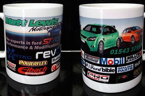 Matt Lewis motorsport mug