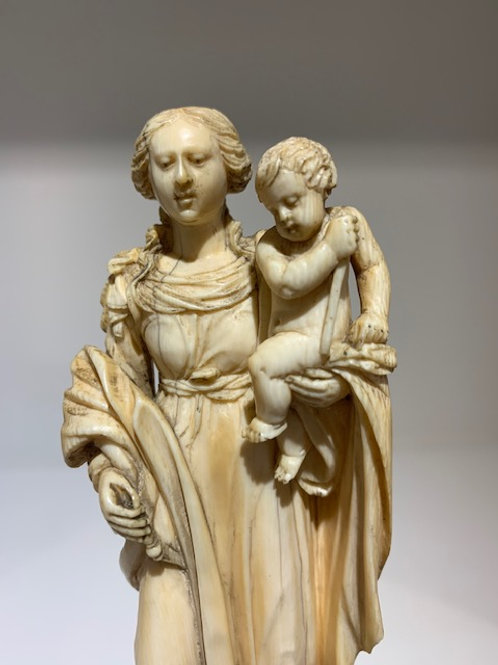 Mary and Child on a dragon