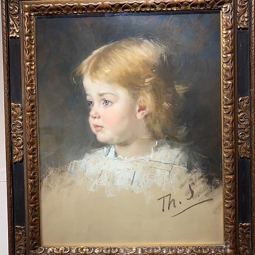 'Portrait of a young girl' - Therese Schwartze