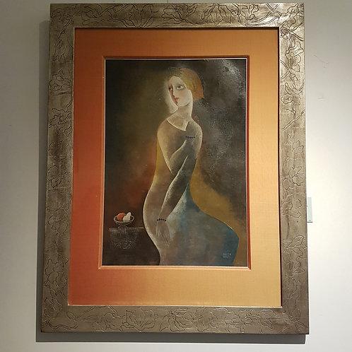 Musing woman - Bela Kadar