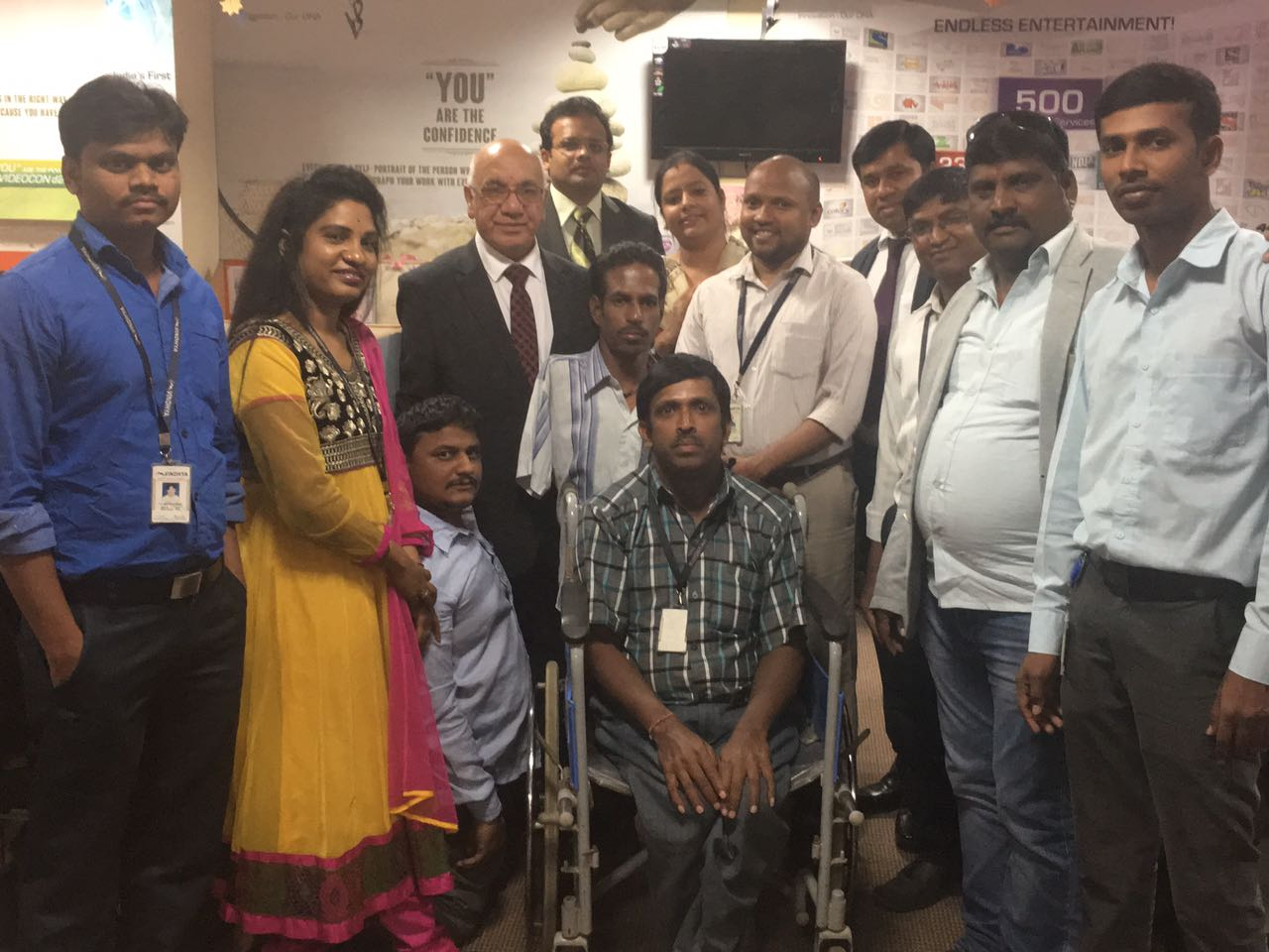 Interaxn with physically challenged