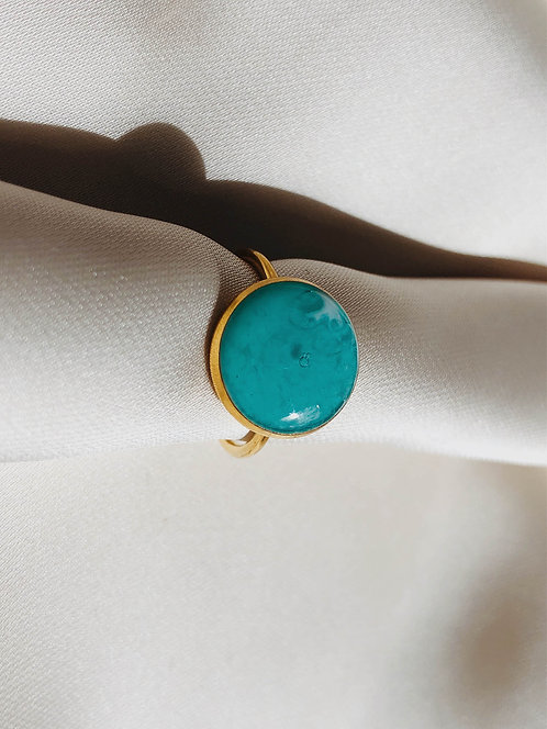 """Caribbean Water"" Ring"